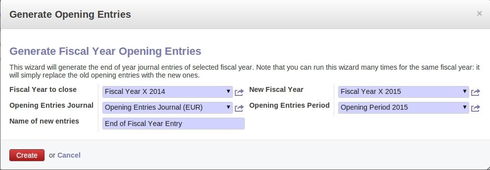 opening_entries-End of the Year Process in OpenERP/Odoo