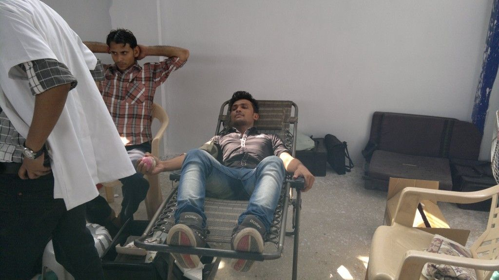 Blood Donation Camp : SerpentCS Playing a lead role