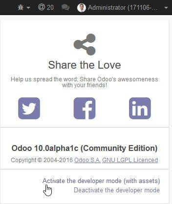 Odoo Tips of the month : september 2016